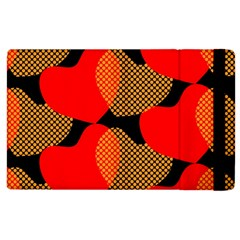 Heart Pattern Apple Ipad 2 Flip Case