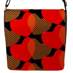 Heart Pattern Flap Messenger Bag (s)