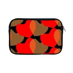 Heart Pattern Apple Ipad Mini Zipper Cases