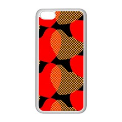 Heart Pattern Apple Iphone 5c Seamless Case (white)