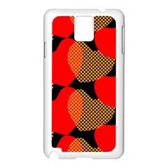 Heart Pattern Samsung Galaxy Note 3 N9005 Case (white)