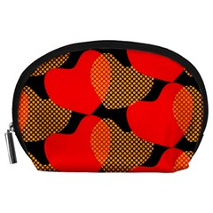 Heart Pattern Accessory Pouches (large)