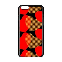 Heart Pattern Apple Iphone 6/6s Black Enamel Case