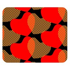 Heart Pattern Double Sided Flano Blanket (small)