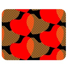 Heart Pattern Double Sided Flano Blanket (medium)