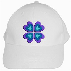 Light Blue Heart Images White Cap