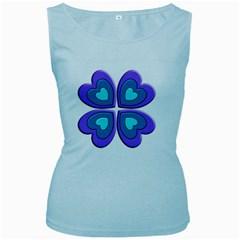 Light Blue Heart Images Women s Baby Blue Tank Top