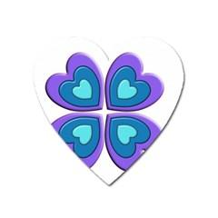 Light Blue Heart Images Heart Magnet