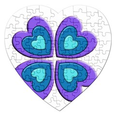 Light Blue Heart Images Jigsaw Puzzle (Heart)