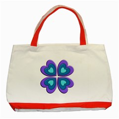 Light Blue Heart Images Classic Tote Bag (red)