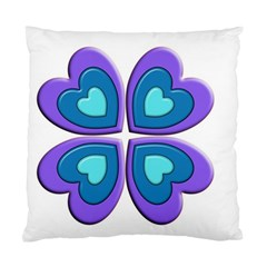 Light Blue Heart Images Standard Cushion Case (two Sides)
