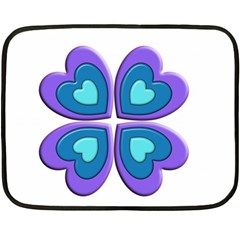 Light Blue Heart Images Fleece Blanket (mini)