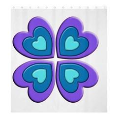 Light Blue Heart Images Shower Curtain 66  X 72  (large)