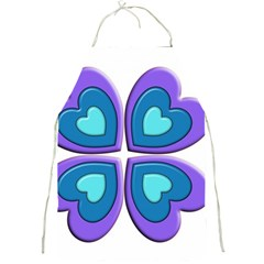 Light Blue Heart Images Full Print Aprons