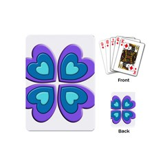 Light Blue Heart Images Playing Cards (mini)