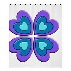 Light Blue Heart Images Shower Curtain 60  X 72  (medium)