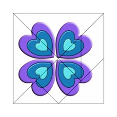 Light Blue Heart Images Acrylic Tangram Puzzle (6  X 6 )