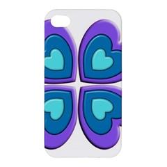 Light Blue Heart Images Apple Iphone 4/4s Premium Hardshell Case
