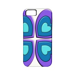 Light Blue Heart Images Apple Iphone 5 Classic Hardshell Case (pc+silicone)