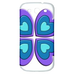 Light Blue Heart Images Samsung Galaxy S3 S Iii Classic Hardshell Back Case
