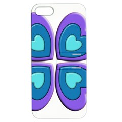 Light Blue Heart Images Apple Iphone 5 Hardshell Case With Stand