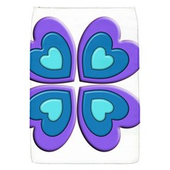 Light Blue Heart Images Flap Covers (s)
