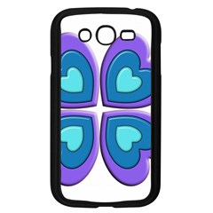 Light Blue Heart Images Samsung Galaxy Grand Duos I9082 Case (black)