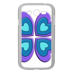 Light Blue Heart Images Samsung Galaxy Grand Duos I9082 Case (white)