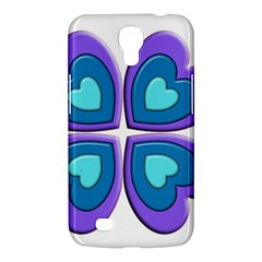 Light Blue Heart Images Samsung Galaxy Mega 6 3  I9200 Hardshell Case