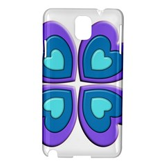 Light Blue Heart Images Samsung Galaxy Note 3 N9005 Hardshell Case