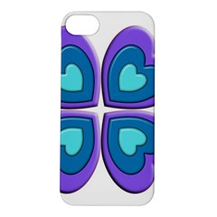 Light Blue Heart Images Apple Iphone 5s/ Se Hardshell Case