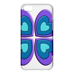 Light Blue Heart Images Apple Iphone 5c Hardshell Case