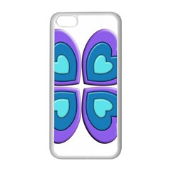 Light Blue Heart Images Apple Iphone 5c Seamless Case (white)