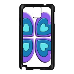 Light Blue Heart Images Samsung Galaxy Note 3 N9005 Case (black)