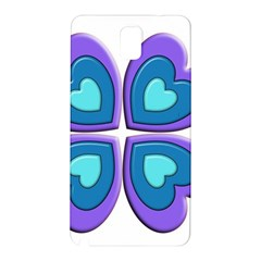 Light Blue Heart Images Samsung Galaxy Note 3 N9005 Hardshell Back Case