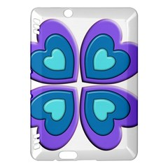 Light Blue Heart Images Kindle Fire Hdx Hardshell Case