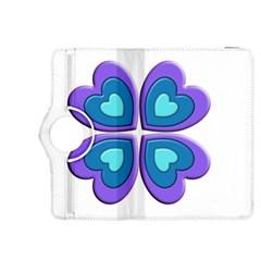 Light Blue Heart Images Kindle Fire Hdx 8 9  Flip 360 Case