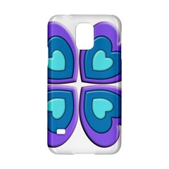 Light Blue Heart Images Samsung Galaxy S5 Hardshell Case