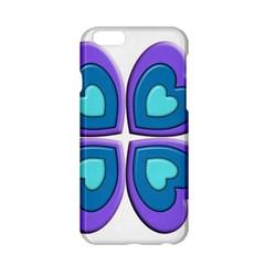 Light Blue Heart Images Apple Iphone 6/6s Hardshell Case
