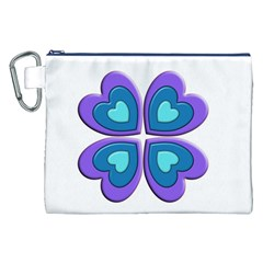 Light Blue Heart Images Canvas Cosmetic Bag (xxl)