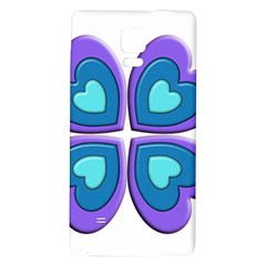 Light Blue Heart Images Galaxy Note 4 Back Case