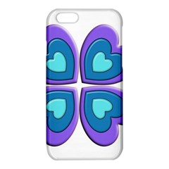 Light Blue Heart Images iPhone 6/6S TPU Case
