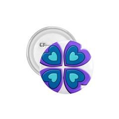 Light Blue Heart Images 1.75  Buttons