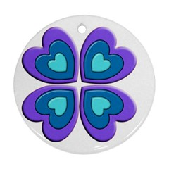 Light Blue Heart Images Ornament (round)