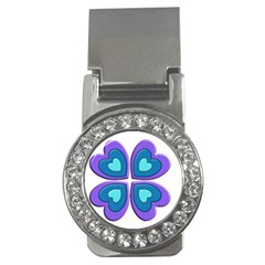Light Blue Heart Images Money Clips (cz)