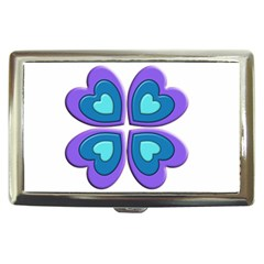 Light Blue Heart Images Cigarette Money Cases