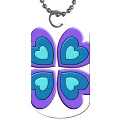 Light Blue Heart Images Dog Tag (two Sides)