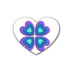 Light Blue Heart Images Heart Coaster (4 Pack)