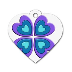 Light Blue Heart Images Dog Tag Heart (one Side)