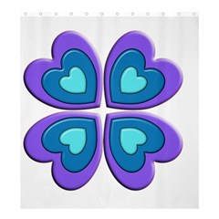 Light Blue Heart Images Shower Curtain 66  X 72  (large)